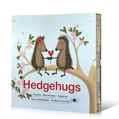 英文原版繪本 刺猬的抱抱 Hedgehugs Hide and Squeak 5冊套裝睡前啟蒙親子閱讀書籍兒童英語輔導訓