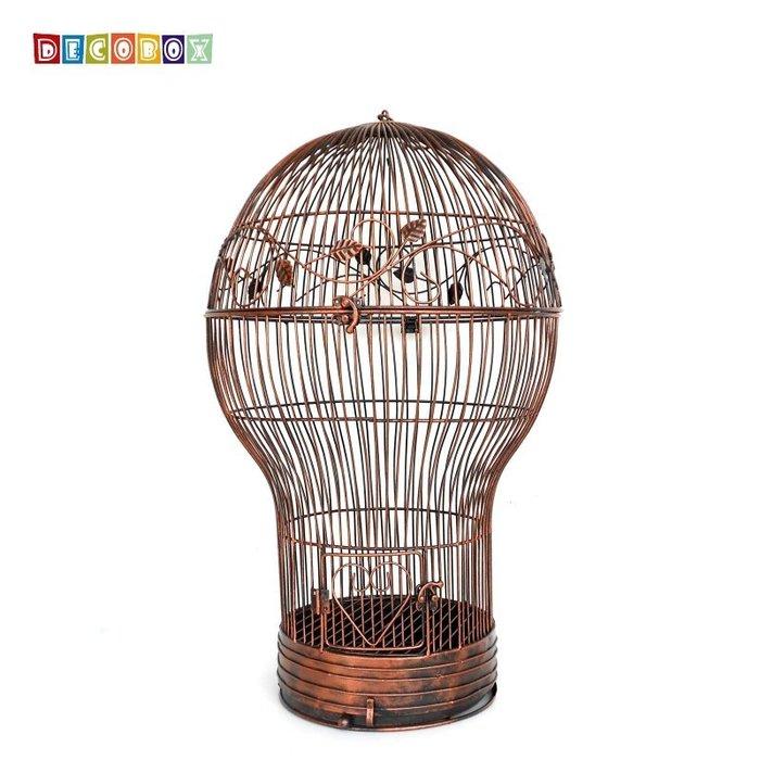 DecoBox燈泡古銅大花架(鳥籠,燈泡花架,園藝,花台,花插,鍛鐵展示架)