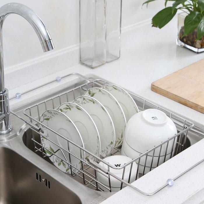 【berry_lin107營業中】304不銹鋼廚房置物架瀝水碗架碗筷瀝水架放碗碟架水槽瀝水籃水池