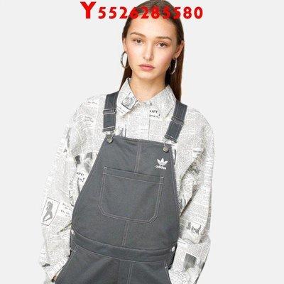 「美好居家館」 Adidas  DUNGAREES DU8181 連身工作服 吊帶褲 灰色 愛迪達JU