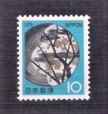 【珠璣園】J7301 日本郵票 - 1973年 新年郵票 - 地球 1全