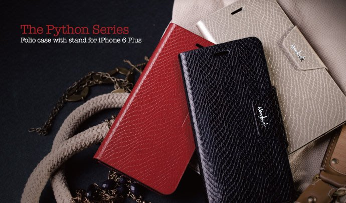 navjack APLLE iPhone 6 6S PLUS The Python Series 蛇皮 側掀 站立保護套