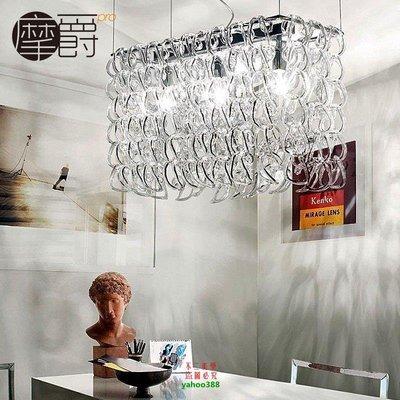 【美學】現代藝術吊墜燈工程定制燈長方形 正方形水晶吊燈別墅燈MX_332