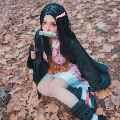 鬼滅之刃cos服彌豆子cosplay全套服裝 兄妹之絆二次元漫展動漫 彌豆子全套衣服+ S新品