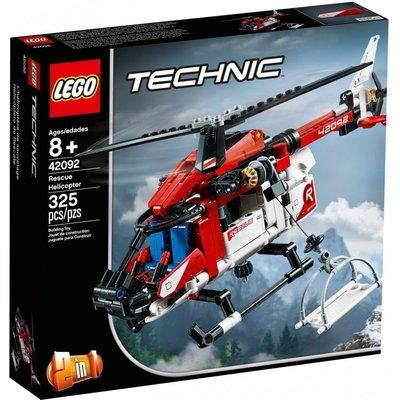 LEGO 樂高 42092 Technic系列 救援直升機 325PCS
