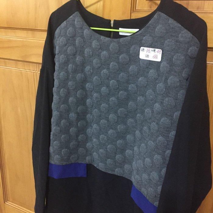 專櫃品牌女裝 ❤️二手   黑色壓紋造型休閒上衣
