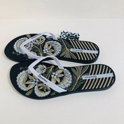 《現貨》Ipanema 女生夾腳拖鞋 巴西尺寸33/34,35(夏日花園 人字夾腳平底拖鞋-黑色)