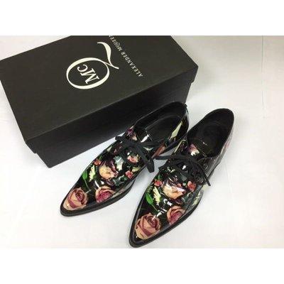 Alexander McQueen漆皮玫瑰印花鞋