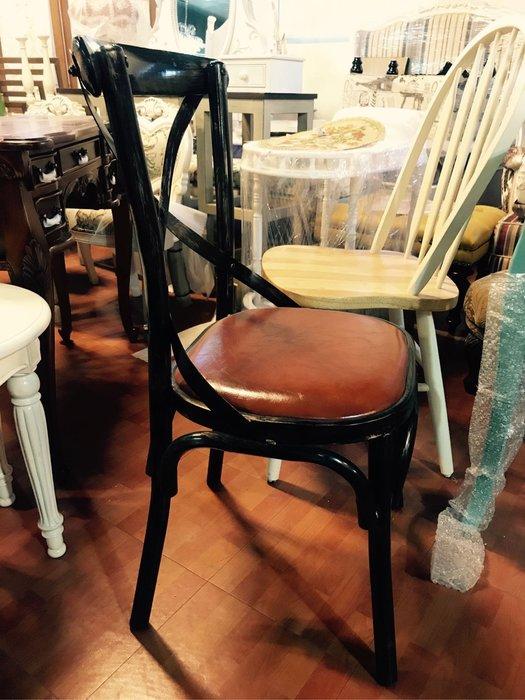 復古風格 羅麗安餐椅 鐵管 皮椅板 書桌椅