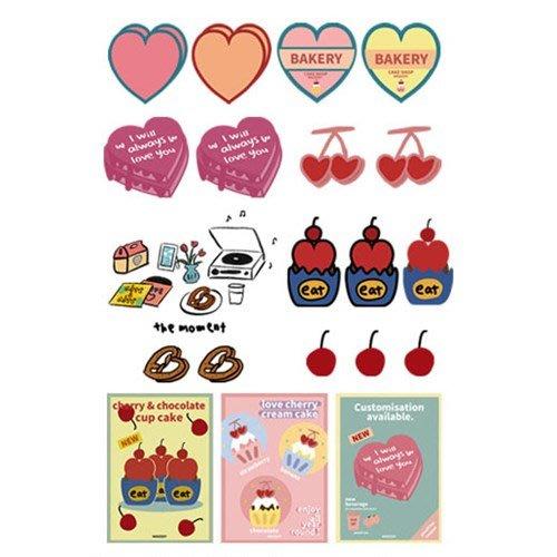 好心情日韓正品雜貨『韓國 MAZZZZY』bakery烘焙坊貼紙包 STICKER PACK 內含110枚貼紙