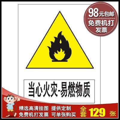 聚吉小屋 #5件起發消防標識牌提示牌 ...