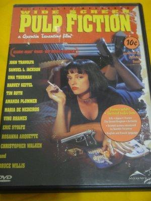 Pulp Fiction 黑色追緝令 昆汀塔倫提諾導 布魯斯威利 約翰屈伏塔 烏瑪舒曼 1區片