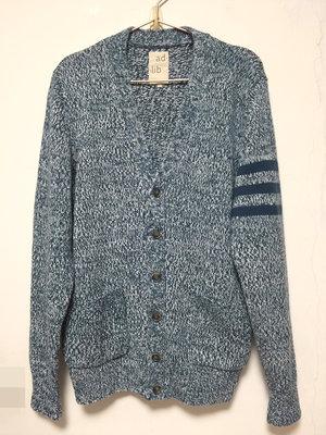 adlib品牌條紋袖雙口袋學院風針織外套~只賣L號