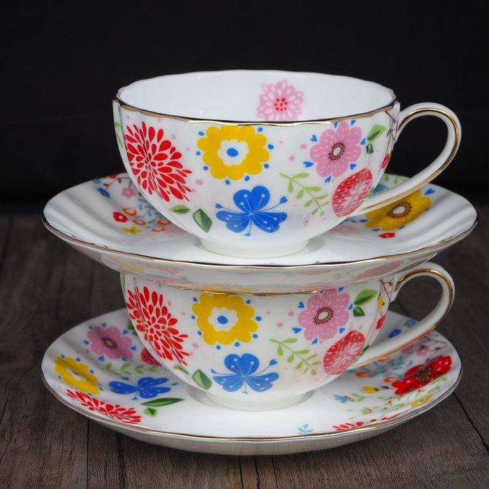 [現貨] 夏日狂想曲 咖啡杯盤 咖啡杯 花茶杯組 入厝 咖啡杯禮盒 下午茶咖啡杯送禮 單客杯 營業用 精品咖啡