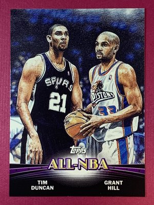 2000-01 Topps Combos 1 All-Star Tim Duncan Grant Hill Spurs