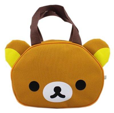 【卡漫迷】 拉拉熊 造型 手提袋 ㊣版 便當袋 懶懶熊 Rilakkuma 拉鍊式 餐袋 收納 外出袋 外出包
