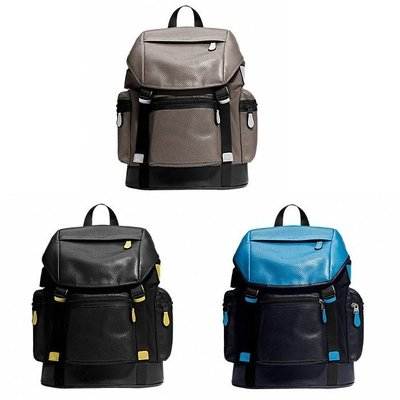 COACH 72018 TREK PACK IN NYLON AND PERFORATED LEATHER後背包