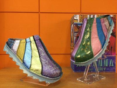 【阿典鞋店】**男鞋**Macanna**麥坎納專櫃~馬雅系列~炸彈麵包~全新牛皮彩色混溚左右腳不同配色氣墊式鞋4302