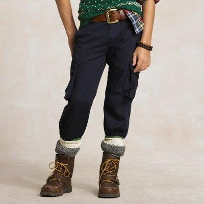 Polo Ralph Lauren 大男孩Gellar Fatigue深藍色休閒褲(10號) (43475)~全新正品