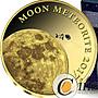 【雅齋】乍得2016年太陽系隕石鑲嵌小金幣月...