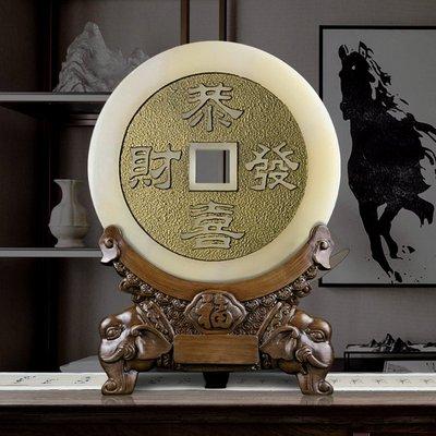 LANTERN 銅錢古幣招財風水擺件復古中國風客廳玄關擺件辦公室裝飾開業禮品