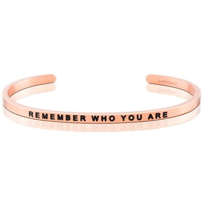 MANTRABAND 台北ShopSmart直營店 Remember who you are 玫瑰金手環 附原廠盒