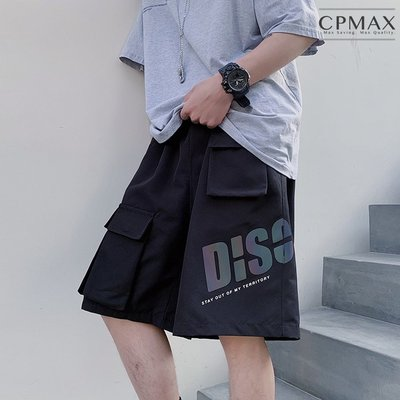 CPMAX 變色英文印花短褲 多口袋休閒褲 工裝五分褲 加大尺碼 休閒五分短褲【K96】