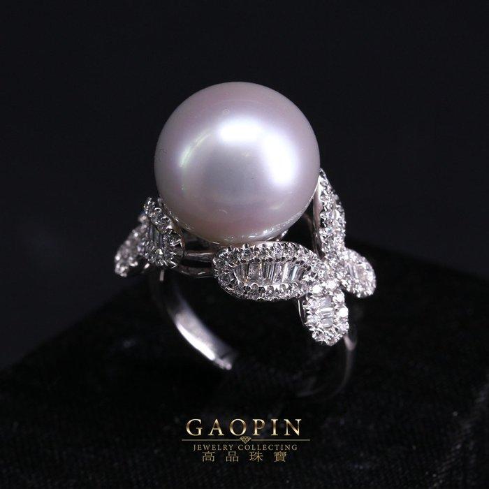 【高品珠寶】13.92mm南洋珠寶戒指 女戒 18K #2778