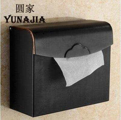 【優上】歐式全銅仿古紙巾盒防水廁紙架復古捲紙器封閉式掛牆壁黑色大紙巾盒