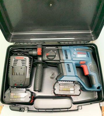 鋰電無刷電錘 原廠博世 BOSCH GBH180-LI 18V雙電池 6.0AH 多功能鎚鑽鎬/三用圓柄四坑/鋰充電鎚鑽