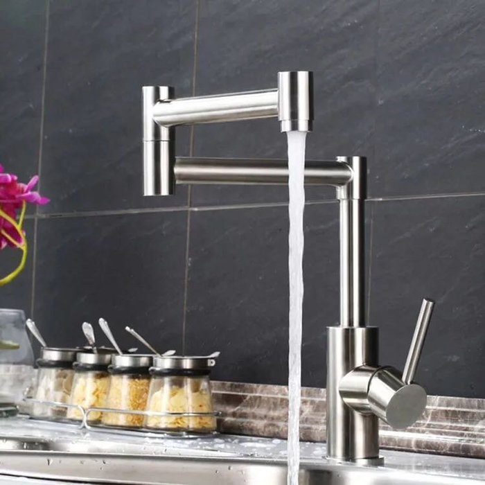 FUO衛浴:304不鏽鋼  廚房用 折疊 拉伸龍頭  ST08