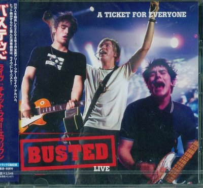 K - BUSTED - A TICKET FOR EVERYONE - 日版 CD+2BONUS - NEW