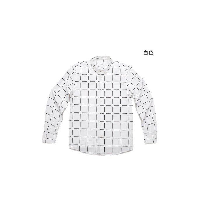 WaShiDa【710】SATURDAYS NYC 美國品牌 Crosby Point Print 格紋 長袖 襯衫
