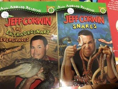 全新英文科學童書  爬蟲類 jeff corwin all aboard level 3 48頁 new994