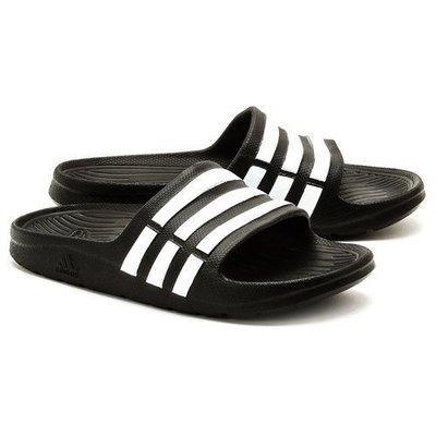 運動GO~ ADIDAS 愛迪達 拖鞋 尺寸18~25CM 童款 女 耐穿 基本款 防水 黑底白條紋 G06799