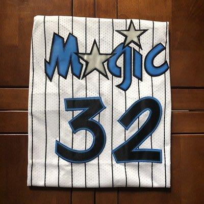 NBA2018全明星賽魔術隊 32号俠客·歐尼爾 Shaquille 復古款式球衣大鲨鱼34湖人O Neal 深藍色