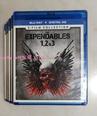 Lucky 1of1收藏BD正版藍光 The Expendables 敢死隊1-3 三部曲 3碟A區英字US
