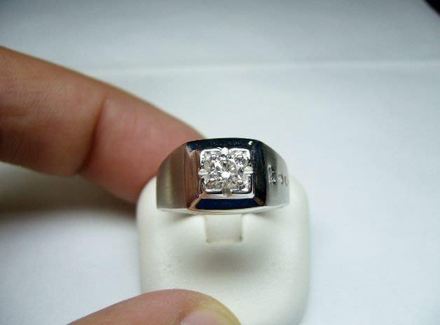 [吉宏精品交流中心]33分 南非天然鑽石 白K金 2000造型 戒指(男戒)