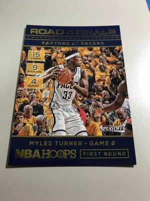 【MYLES TURNER】2016-17 NBA HOOPS 季後賽之路 /2016限量卡