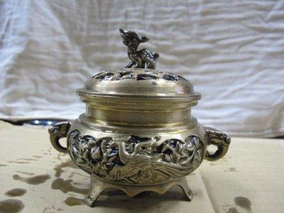 二手舖 NO.770 銅雕 銅香爐 盤香爐 雕工細膩