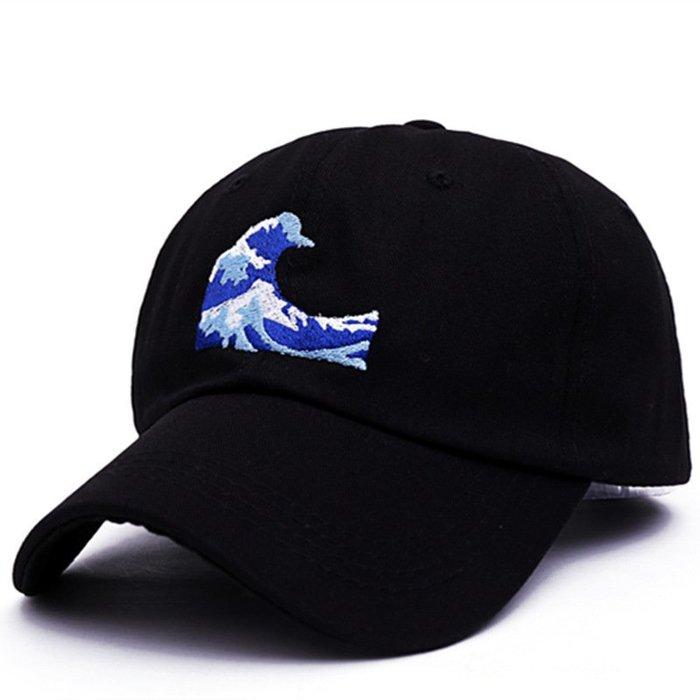 FIND 韓國品牌棒球帽 男女情侶 時尚街頭潮流 海浪刺繡 帽子 太陽帽 鴨舌帽 棒球帽