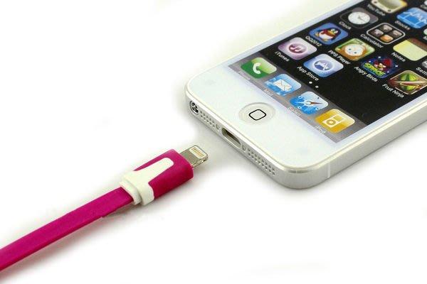 ※瘋狂上市※彩色麵條傳輸線充電線iphone5.5S.5C.ipad4.Air.mini.MINI2一米