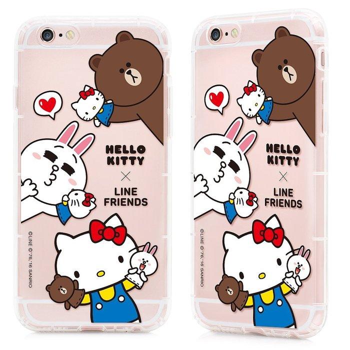 GARMMA Hello Kitty聯名 Line iPhone 6/6S 4.7吋 空壓 氣墊 防摔保護軟殼 哈囉夥伴