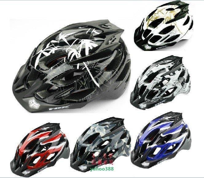 美學177OX狐貍山地自行車一體成型騎行頭盔 騎行頭盔 BMX盔自行車❖48112