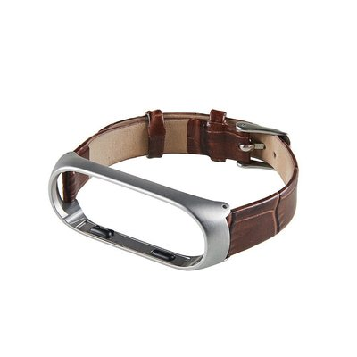 ?小米手環3/4?鱷魚紋真皮錶帶 MI3 (咖啡棕)米蘭尼斯磁吸金屬腕帶