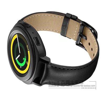 小花精品店-三星Gear S3 Classic手錶帶gear sport S2雙色真皮錶帶華米青春版