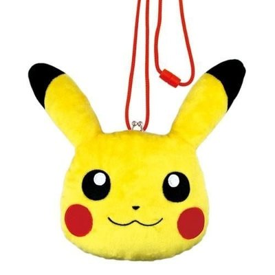 直送 Pokemon 寶可夢 神奇寶貝 皮卡丘 鈕扣零錢包 斜背包 該該貝比  ☆