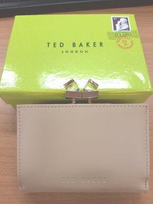 Ted Baker 經典水晶鈕扣短夾(駝色)