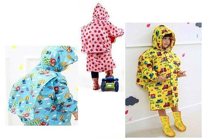 兒童雨衣{可愛圖案}XL號含書包位款