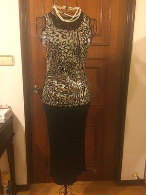 ET VOUS  法國品牌 - 優雅氣質魚尾裙擺設計 - 送黑色亮片背心 #Gucci #LV #MaxMara